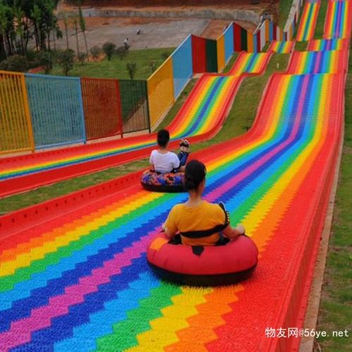 每天都要开心呀 彩虹滑道旱雪设备 七彩滑道成本 四季滑道